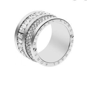 Michael Kors Silver Tone Barrel Ring